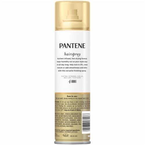 Pantene Pro-V Level 4 Extra Strong Hold Texture-Building Hairspray Perspective: back
