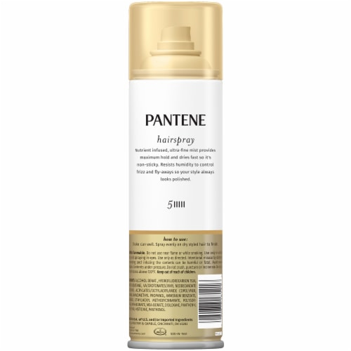 Pantene Pro-V Level 5 Maximum Hold Hairspray for Maximum Hold Texture and Finish Perspective: back
