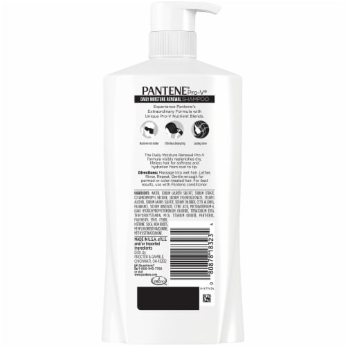 Pantene Pro-V Daily Moisture Renewal Shampoo Perspective: back