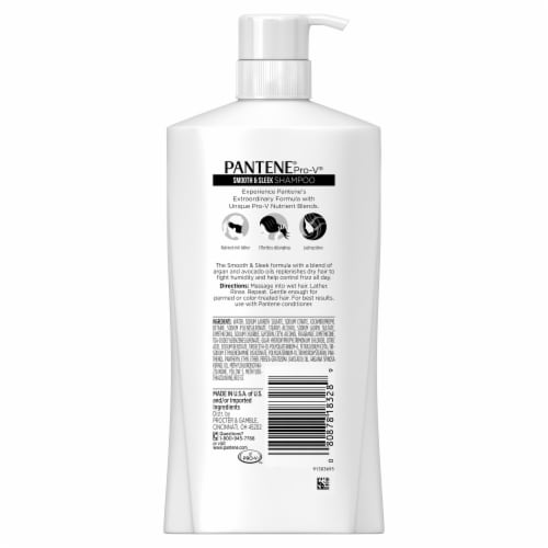 Pantene Pro-V Smooth & Sleek Shampoo Perspective: back