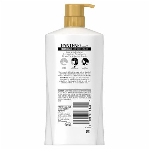 Pantene Pro-V Smooth & Sleek Conditioner Perspective: back