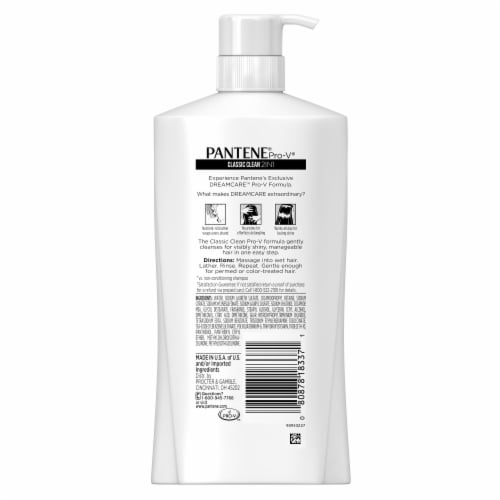 Pantene Pro-V Classic Clean 2In1 Shampoo & Conditioner Perspective: back