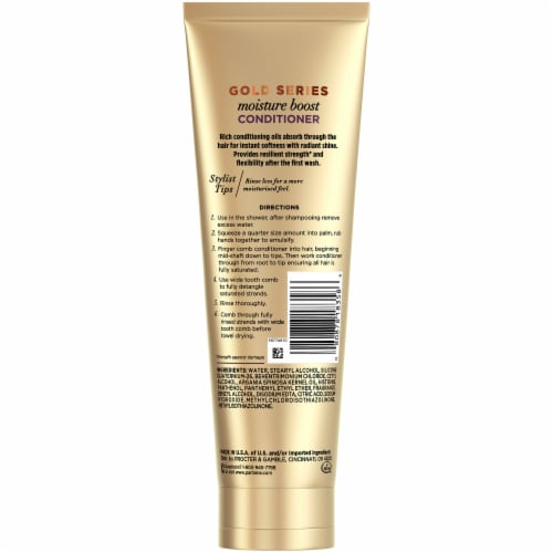 Pantene Gold Series Sulfate-Free Moisture Boost Conditioner with Argan Oil for Curly Coily Hair Perspective: back