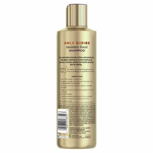 Pantene Gold Series Moisture Boost Shampoo with Argan Oil for Curly Coily Hair Perspective: back