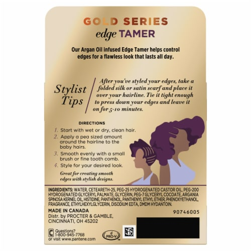Pantene Gold Series Sulfate-Free Edge Tamer Treatment with Argan Oil Non-Sticky Edge Control Perspective: back