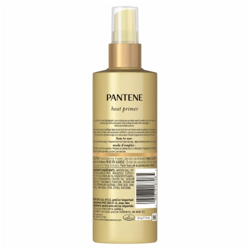 Pantene Pro-V Nutrient Boost Thermal Heat Protection Pre-Styling Heat Primer Spray Perspective: back