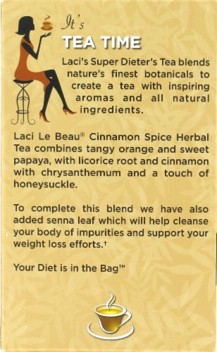 Laci Le Beau Super Dieter's Cinnamon Spice Tea Perspective: back
