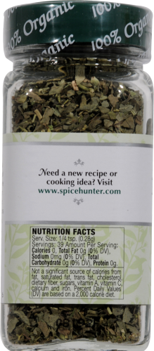 The Spice Hunter 100% Organic Italian Seasoning Perspective: back