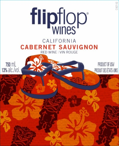 Flipflop Cabernet Sauvignon Red Wine Perspective: back