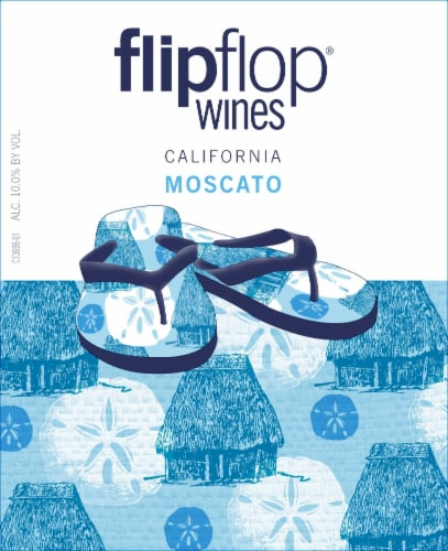 Flipflop Moscato White Wine Perspective: back