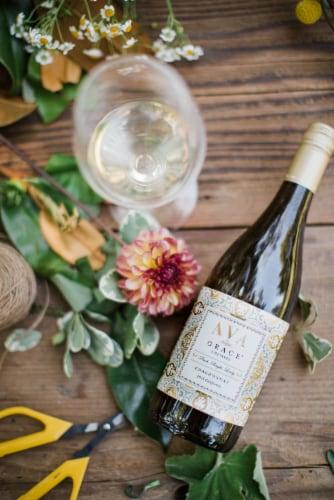 Ava Grace Chardonnay White Wine Perspective: back