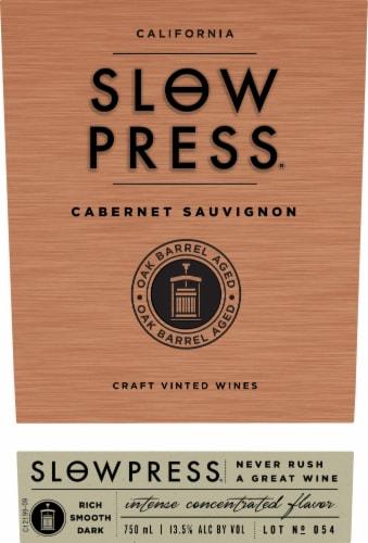 Slow Press Cabernet Sauvignon Red Wine Perspective: back