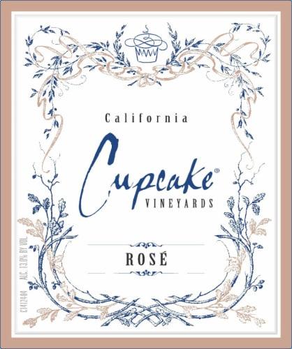 Cupcake Vineyards Rose Wine Perspective: back