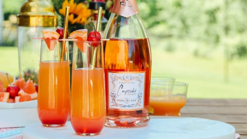 Cupcake Sparkling Rose Wine Perspective: back