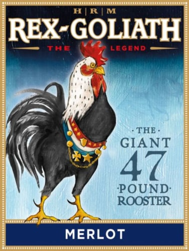 Rex-Goliath Merlot Red Wine Perspective: back