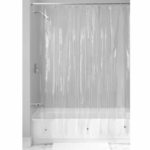 iDesign Vinyl Shower Liner - Clear Perspective: back