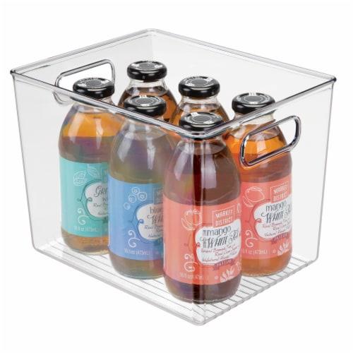 iDesign Linus Binz Storage Bin - Clear Perspective: back