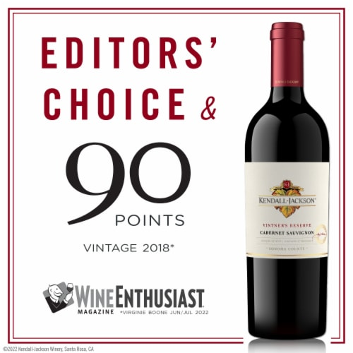 Kendall-Jackson Vintner's Reserve Cabernet Sauvignon Red Wine Perspective: back