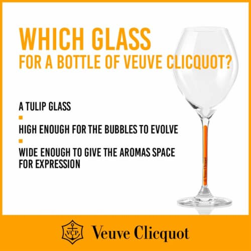 Veuve Clicquot Yellow Label Brut Champagne Perspective: back