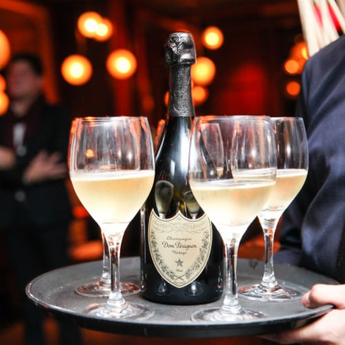 Dom Perignon Vintage Champagne Perspective: back