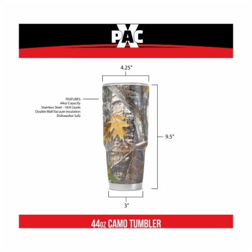 X-PAC Double Vacuum Wall Stainless Steel Tumbler with Lid, 44 Ounce Camo Perspective: back