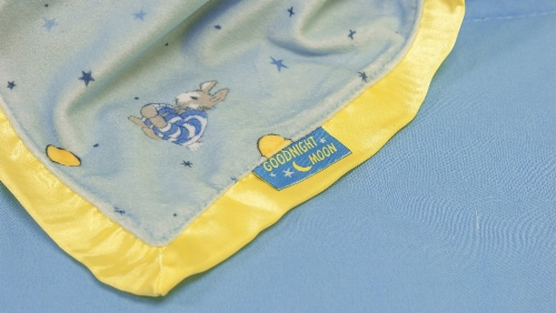 """Kids Preferred Classic """"Goodnight Moon"""" Blanky and Rabbit Perspective: back"""