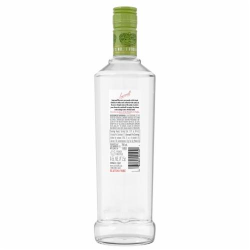 Smirnoff Green Apple Vodka Perspective: back