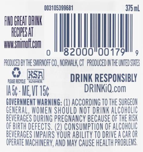 Smirnoff White Grape Vodka Perspective: back