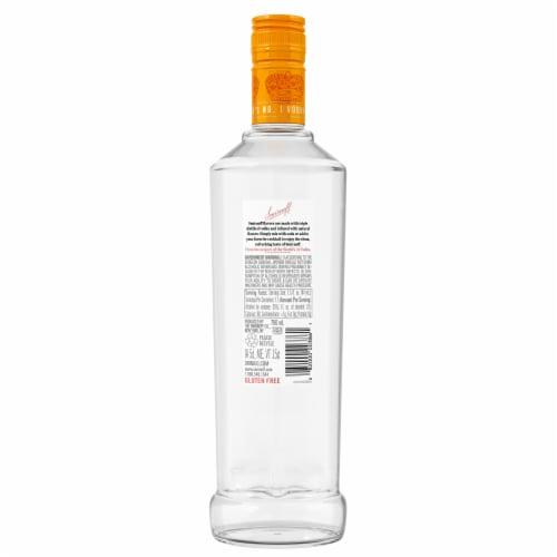 Smirnoff Orange Vodka Perspective: back