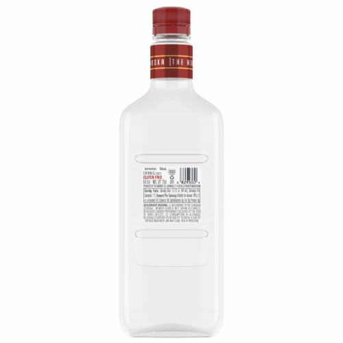 Smirnoff Red No. 21 Vodka Perspective: back