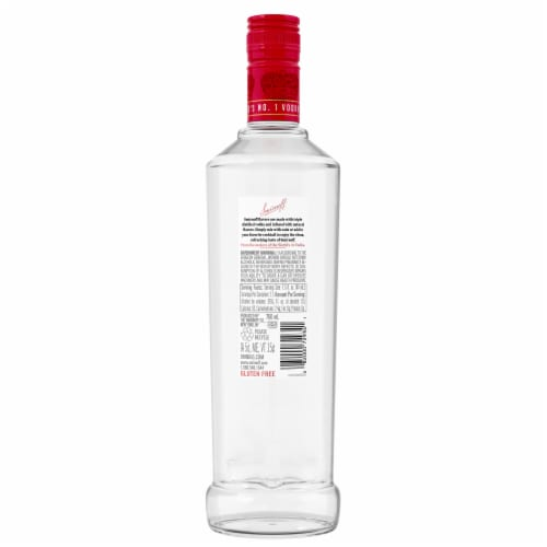 Smirnoff Strawberry Vodka Perspective: back