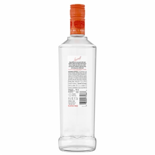 Smirnoff Ruby Red Grapefruit Vodka Perspective: back