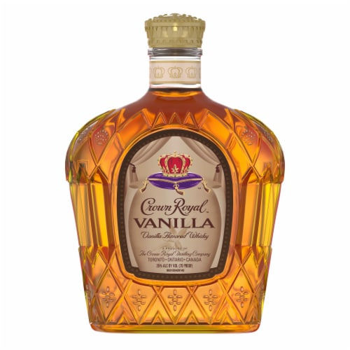 Crown Royal Vanilla Flavored Canadian Whisky Perspective: back