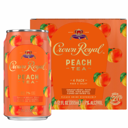 Crown Royal Peach Tea & Canadian Whisky Cocktail Perspective: back