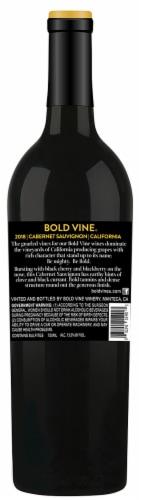 Bold Vine Cabernet Sauvignon Red Wine Perspective: back
