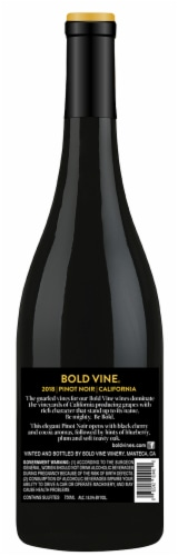 Bold Vine Pinot Noir Red Wine Perspective: back