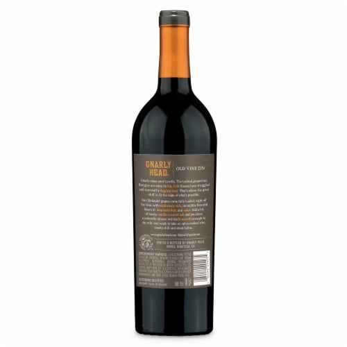 Gnarly Head Old Vine Lodi California Zinfandel Red Wine Perspective: back