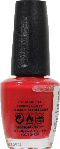 OPI Red Nail Lacquer Perspective: back