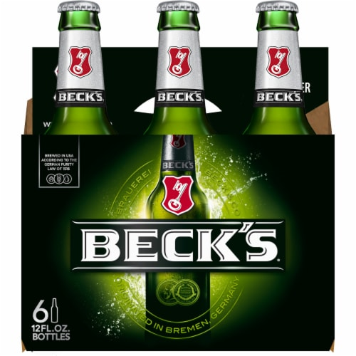 Beck's Pilsner Beer Perspective: back