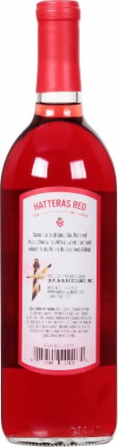 Duplin Hatteras Red Sweet Muscadine Red Wine Perspective: back