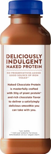 Naked Chocolate Protein Almondmilk Smoothie Perspective: back