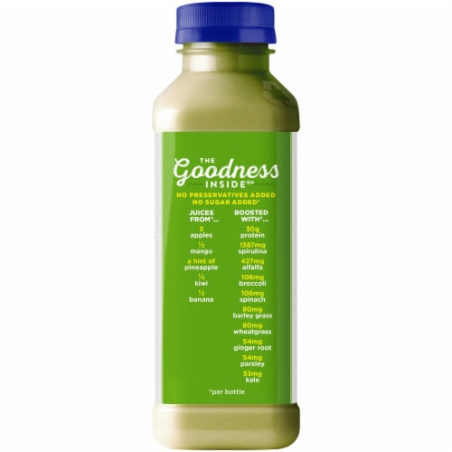 Naked Juice Protein & Greens No Sugar Added Juice Smoothie Drink Perspective: back