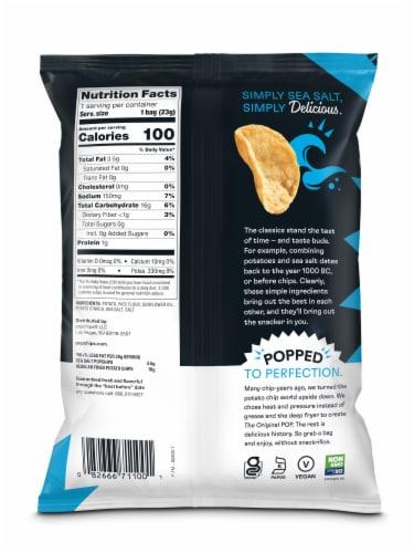 popchips Sea Salt Potato Popped Chip Snack Perspective: back