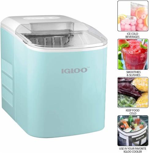 Igloo Automatic Portable Countertop Ice Maker - Aqua Perspective: back