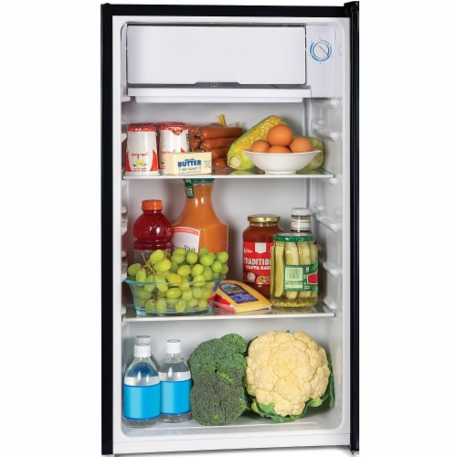 Igloo Refrigerator with Freezer - Black Perspective: back