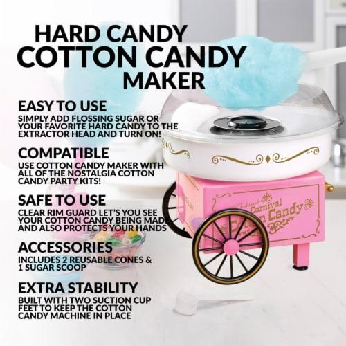 Nostalgia Vintage Cotton Candy Maker - Pink Perspective: back