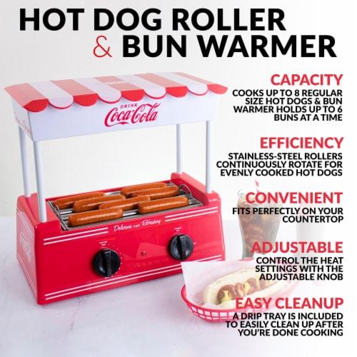 Nostalgia Coca-Cola Hot Dog Roller & Bun Warmer Perspective: back