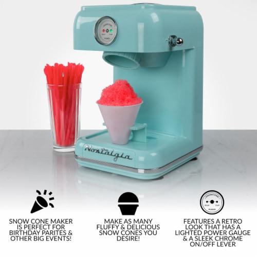 Nostalgia Classic Retro Snow Cone Maker - Aqua Perspective: back
