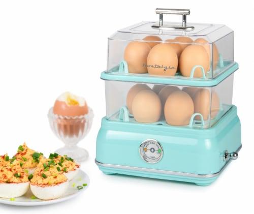 Nostalgia Classic Retro Egg Cooker - Aqua Perspective: back