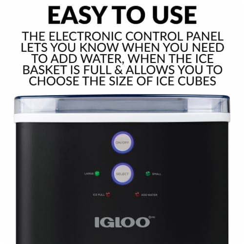 Igloo Automatic Portable Countertop Ice Maker - Black Perspective: back